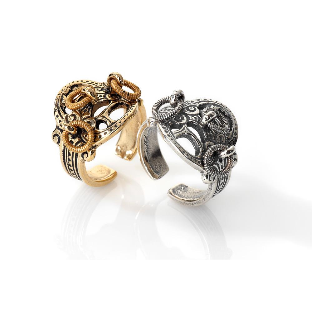 Espeland-Romerikssølv-orginalt-sølv-ring - FORGYLDT